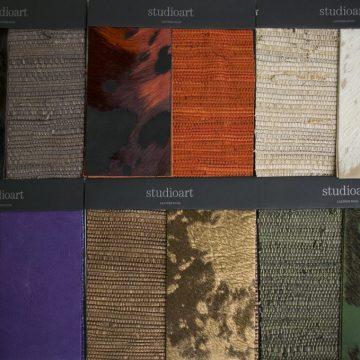 Lederen karpet met rand van Studioart